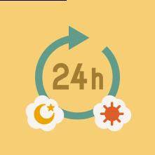 24時間利用可能